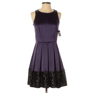 Taylor Purple Cocktail Dress with Sequin Accent